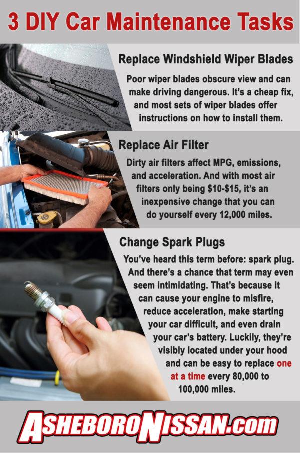 3 DIY Maintenance Tips Infographic Asheboro Nissan
