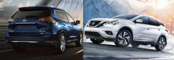Left: the 2017.5 Nissan Rogue. Right: the 2017.5 Nissan Murano